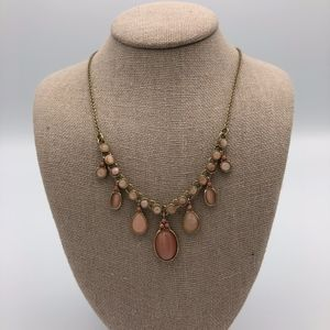 Francesca's Light Pink statement necklace